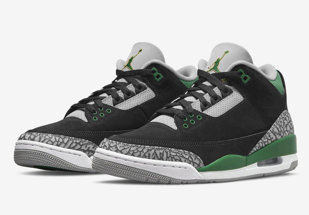Air Jordan 3 'Pine Green'October 30, 2021