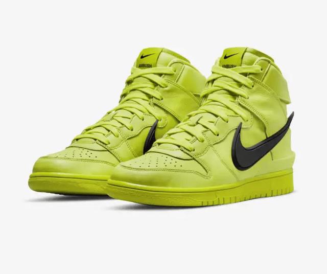 Release Date: AMBUSH x Nike Dunk High 'Flash Lime'