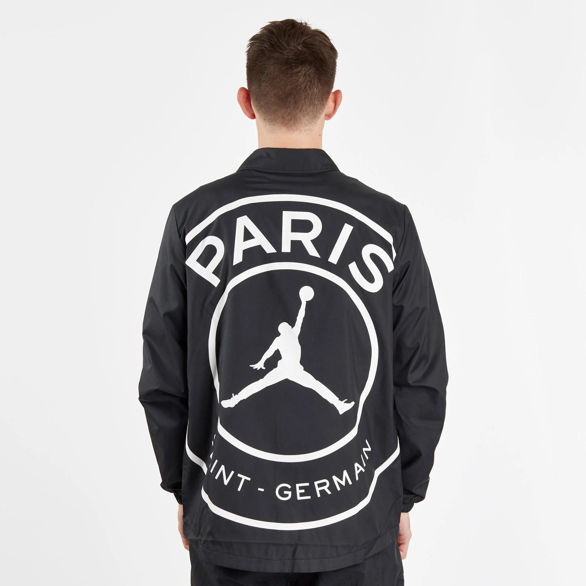 psg x jordan coaches jacket