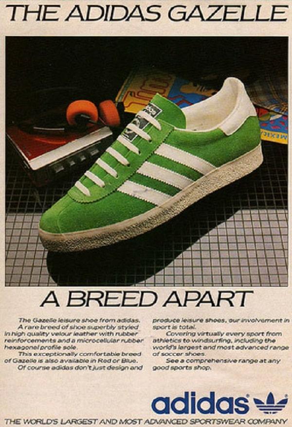 adidas Gazelle - Publicité vintage