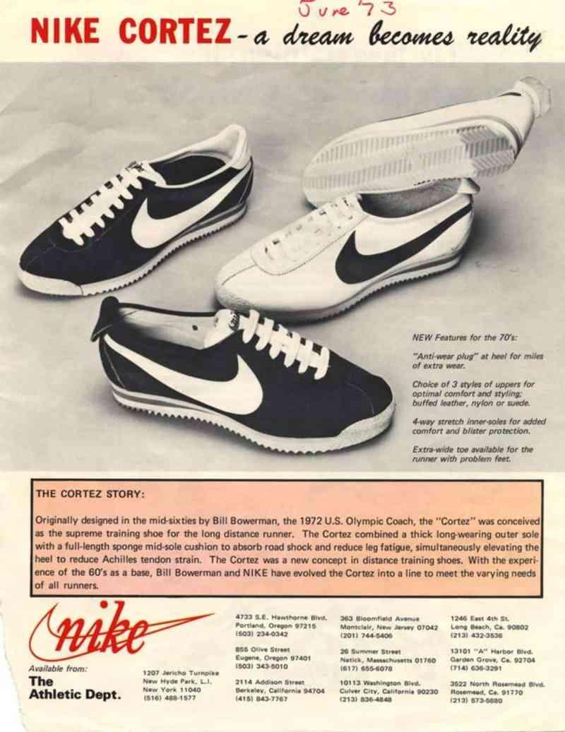 Nike Cortez ad - 1973