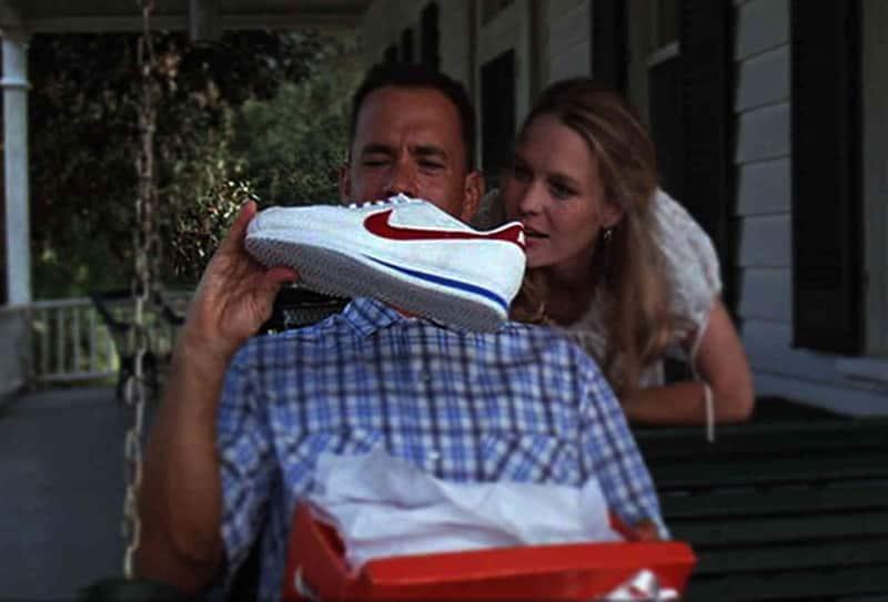Tom Hanks et sa paire de Nike Cortez dans Forrest Gump