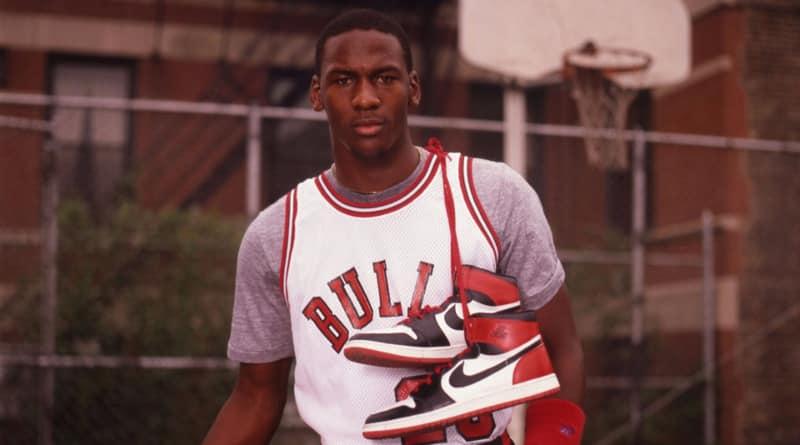 Michael Jordan et sa paire de Air Jordan 1