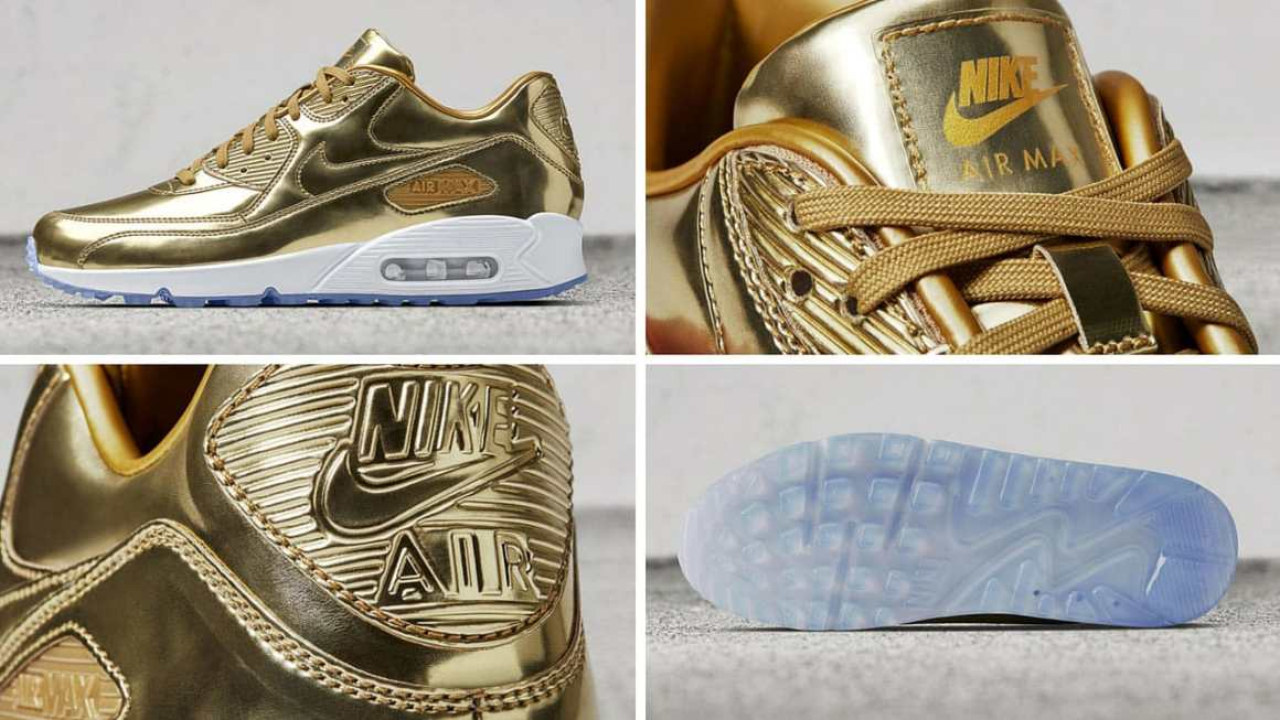 "Nike Air Max 90 gold ""Unlimited Glory"""