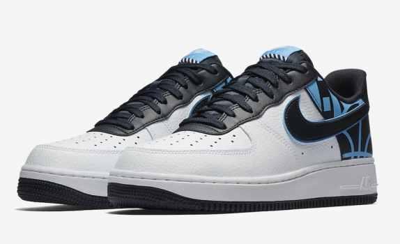 "Nike Air Force 1 Low ""FORCE"" Logo Pack blanc et noir"