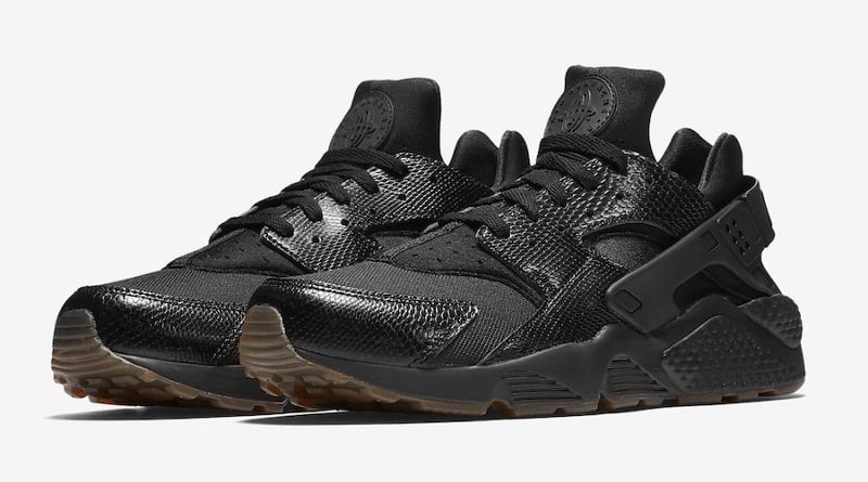 Nike Air Huarache Snakeskin Triple Black