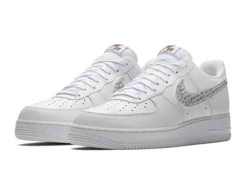 "Nike Air Force 1 Low ""Just Do It"" blanche"