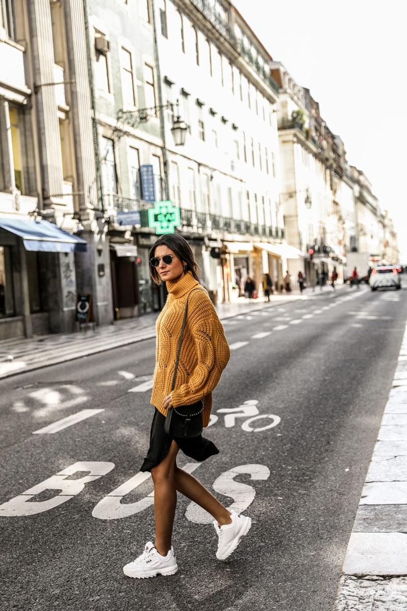 Look baskets femme - FILA Disruptor blanche