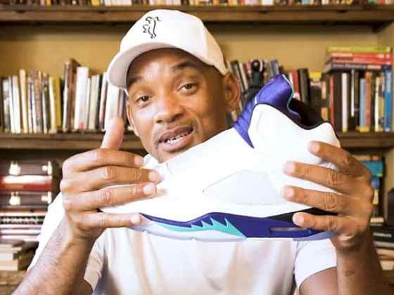 "Will Smith unboxing Air Jordan 5 NRG ""Fresh Prince"""