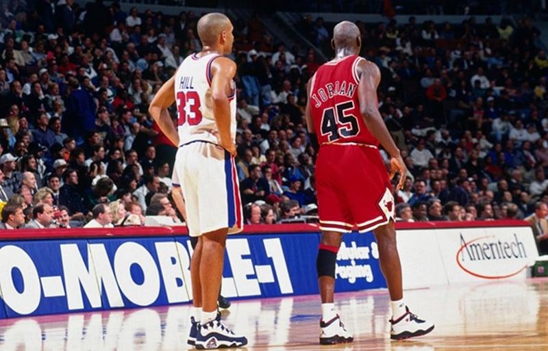 Grant Hill et Michael Jordan