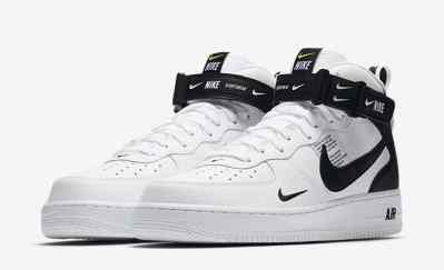Nike Air Force 1 Mid '07 LV8 Utility ''Black & White''