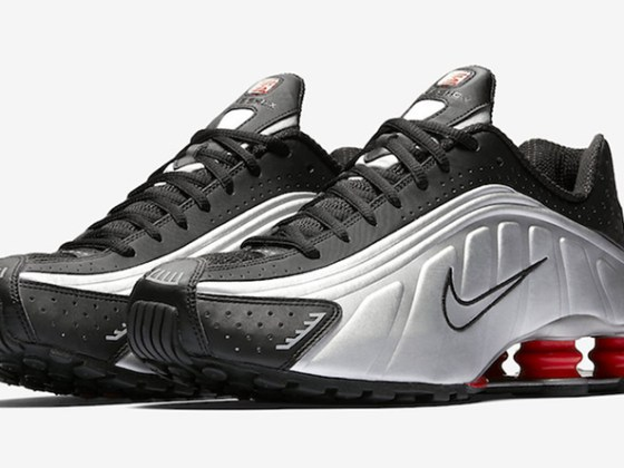 Nike Shox R4 OG ''Black/Metallic Silver/Max Orange''