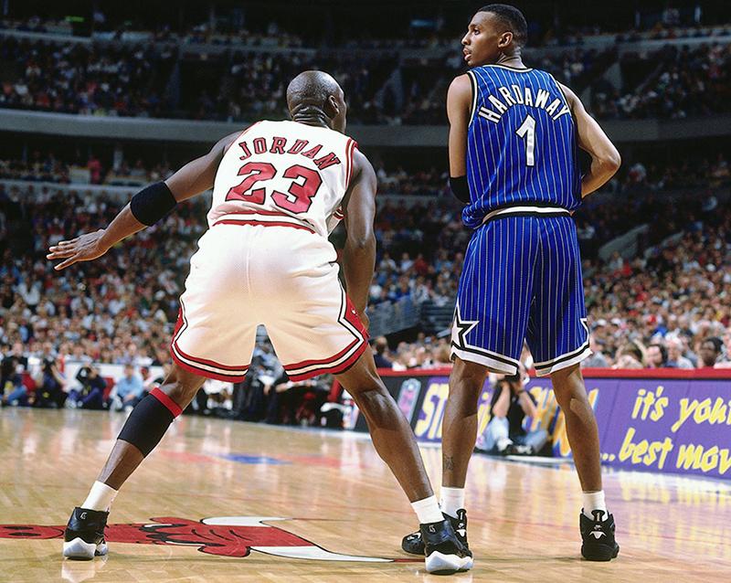 Michael Jordan en 1995 face à Orlando avec ses AJ11 Space Jam
