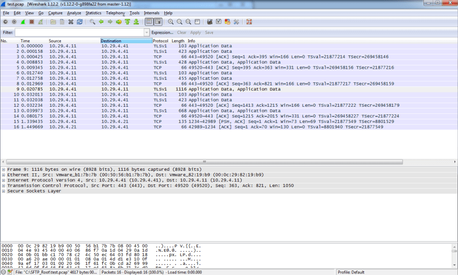 Wireshark - NSX Controller Packet Capture