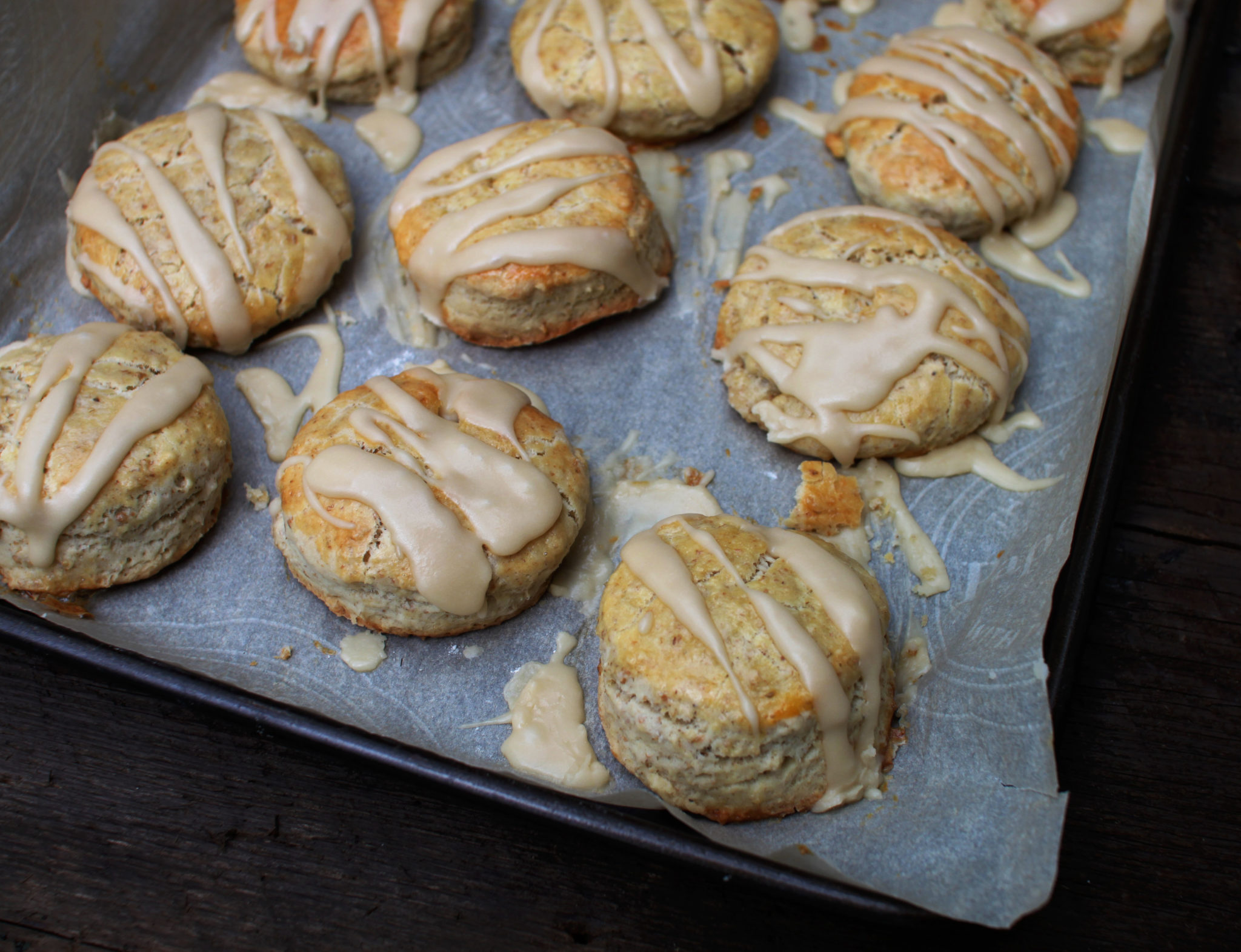 Sneaky Maple Scones with Maple Icing