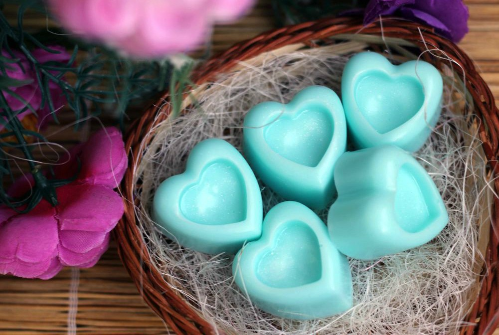 Heart shaped guest soap
