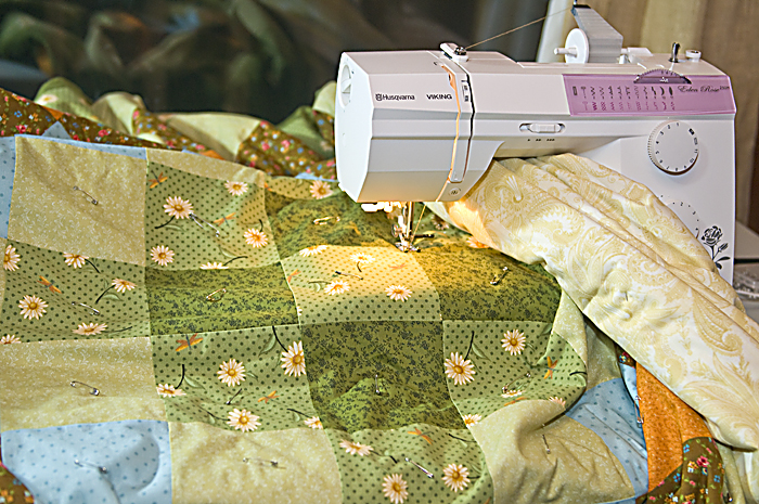 Quilting on a regular sewing machine