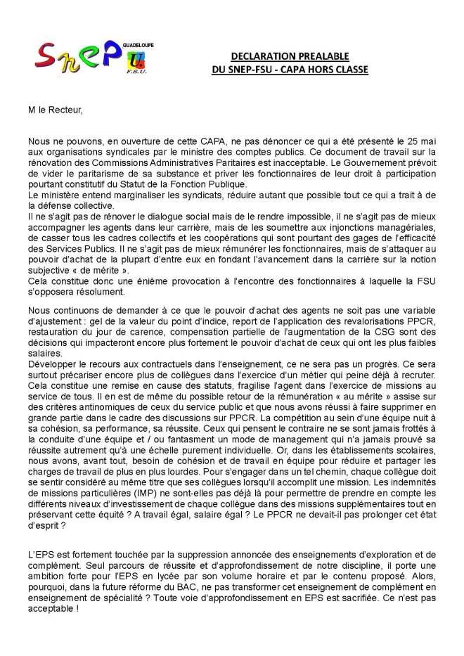 thumbnail of Déclaration préalable CAPA EPS Hors classe 2018