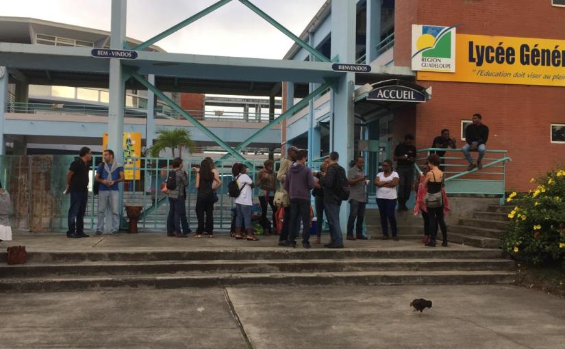 Jonction entre les actions des lycées de Guadeloupe