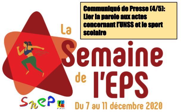CP SNEP-FSU Guadeloupe (4/5) :<br>Une semaine de l'EPS pour lier la parole aux actes concernant l'UNSS et le sport scolaire