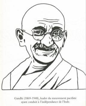 Gandhi coloriage