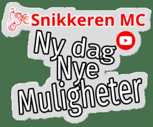 Snikkeren MC Sticker Ny dag Nye muligheter