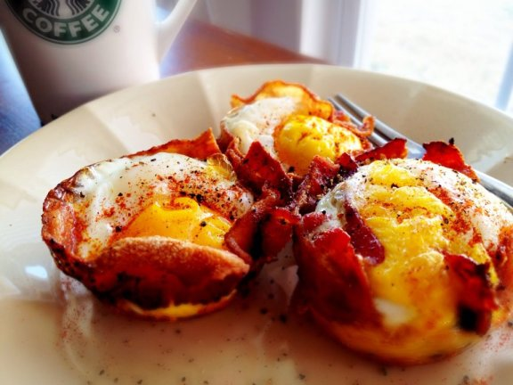 Bacon, Egg, and Cheese breakfast cups
