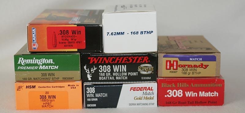 308 Match Ammo Comparison - 168gr - Sniper Central