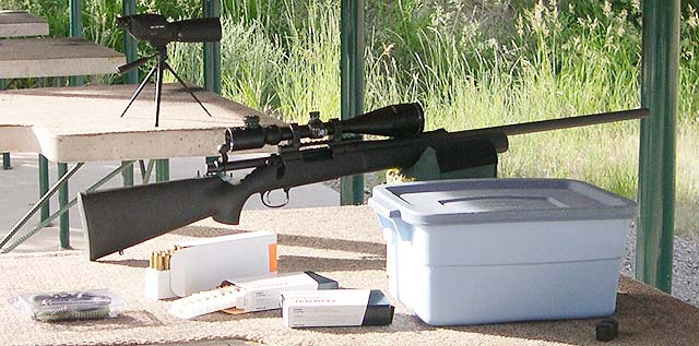 Remington 700 Test rifle at the cleaning/fouler station