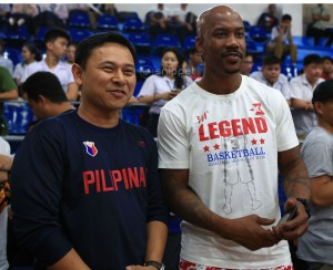Sen. Sonny Angara and Stephon Marbury