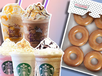 Philippines food promo Starbucks Krispy Kreme Coffee Bean Promos