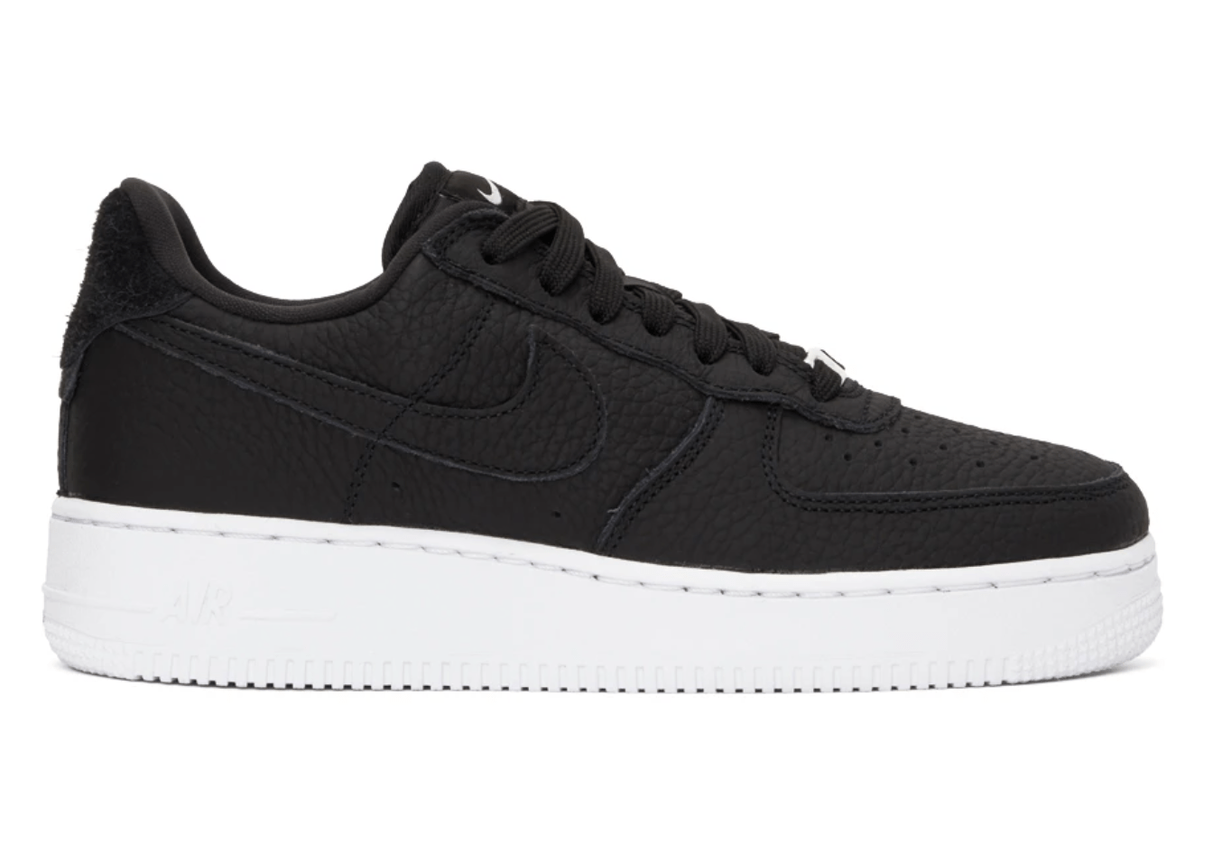 Black Air Force 1 '07 Craft in Black/White/Vast grey