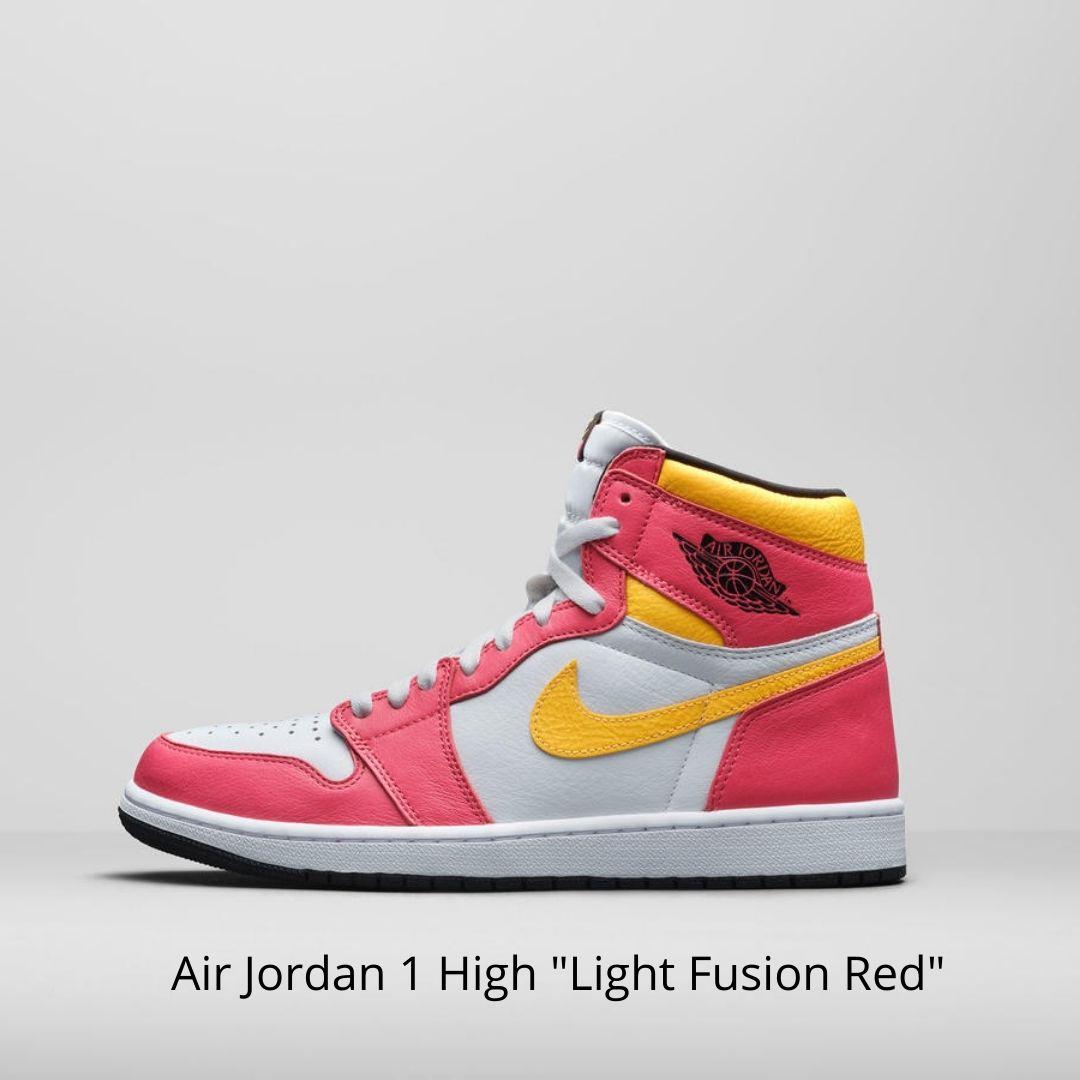 Air Jordan 1 High Light Fusion Red