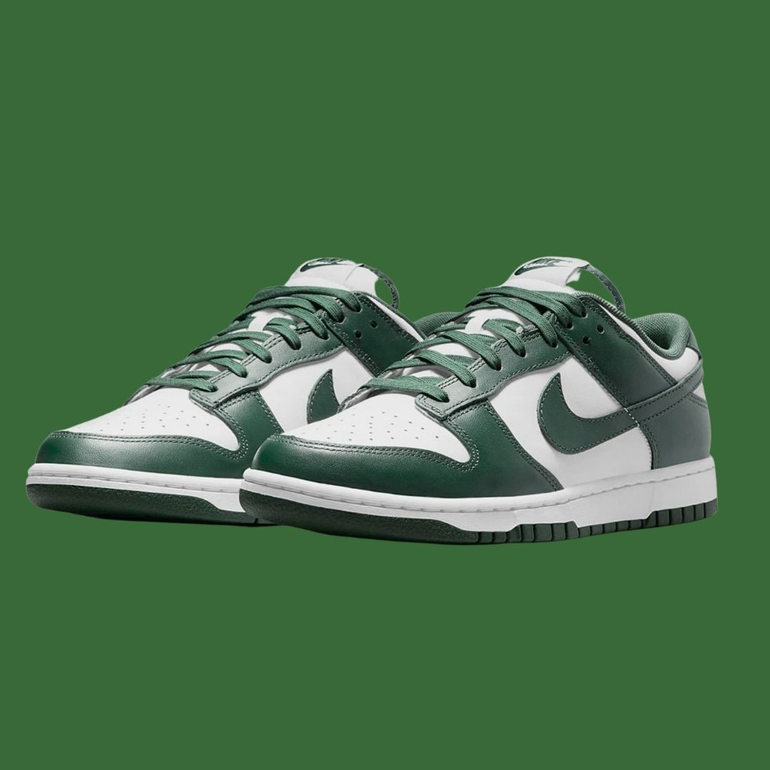 Nike Dunk Low White Green-2