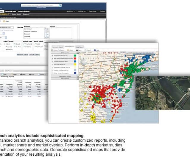 Harness Snls Mapping Application To Create Sophisticated Branch Maps That Incorporate Demographic And Commercial Market Data
