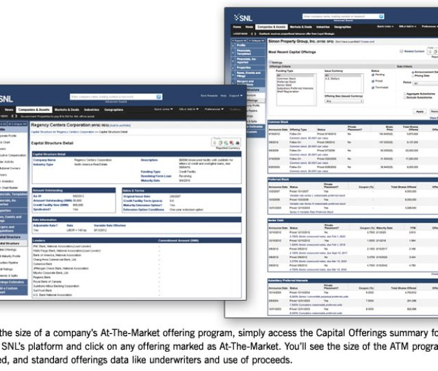 Snls Capital Offerings Report Gives You A Complete Picture Of How A Company Is Accessing The Capital Markets Use Our Extensive Capital Structure Database