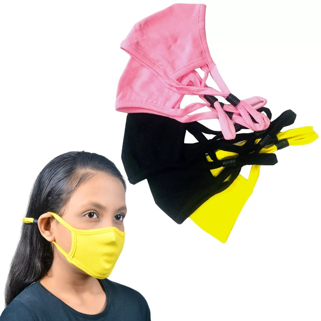 KIDS Cloth Adjustable Face Mask | Adjustable Stopper | Multi Coloured Pack of 6