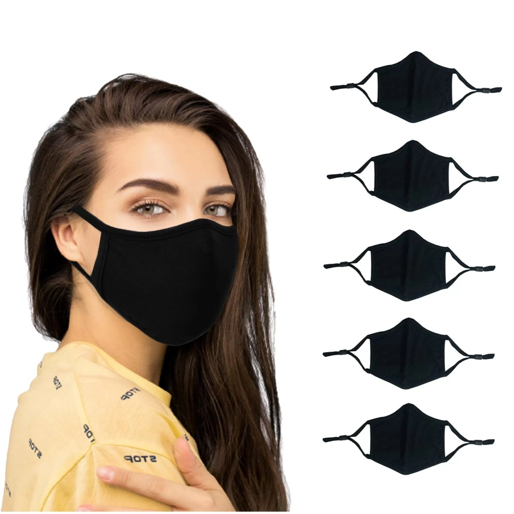 Cloth Face Mask with Adjustable Stopper