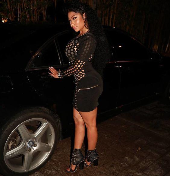 Nicki Minaj In A Balmain Mini