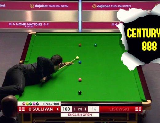 Ronnie O'Sullivan Century Break 888