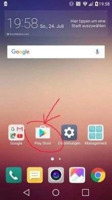 google play auf dem android finden