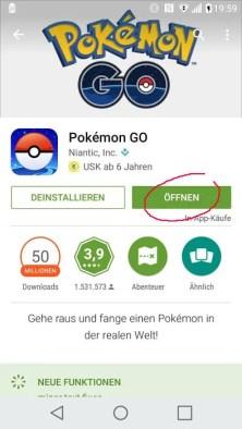 Pokemon GO vom Play Store installieren