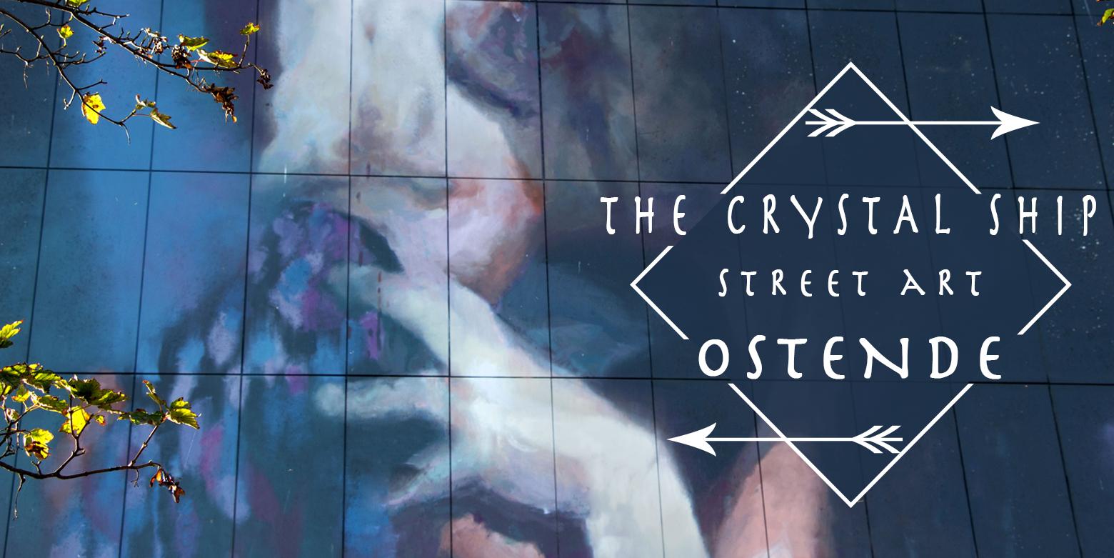 The Crystal Ship, street art à Ostende