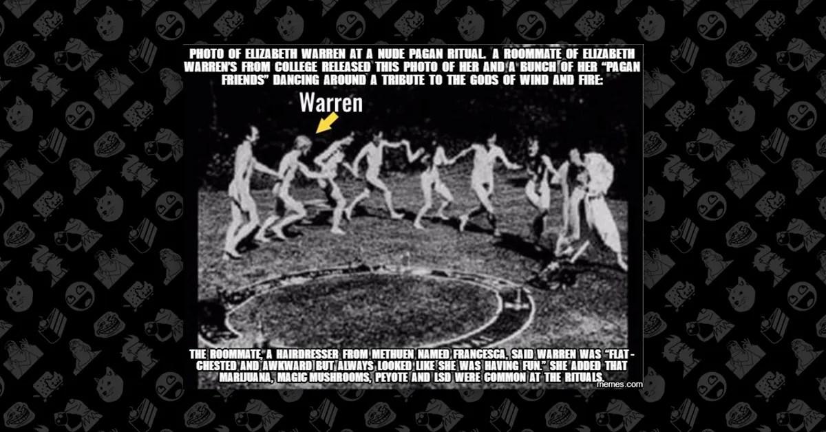 Fact Check Did Senator Elizabeth Warren Perform Nude Pagan
