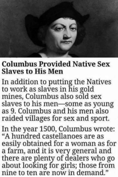 Did Christopher Columbus Seize, Sell, and Export Sex Slaves?