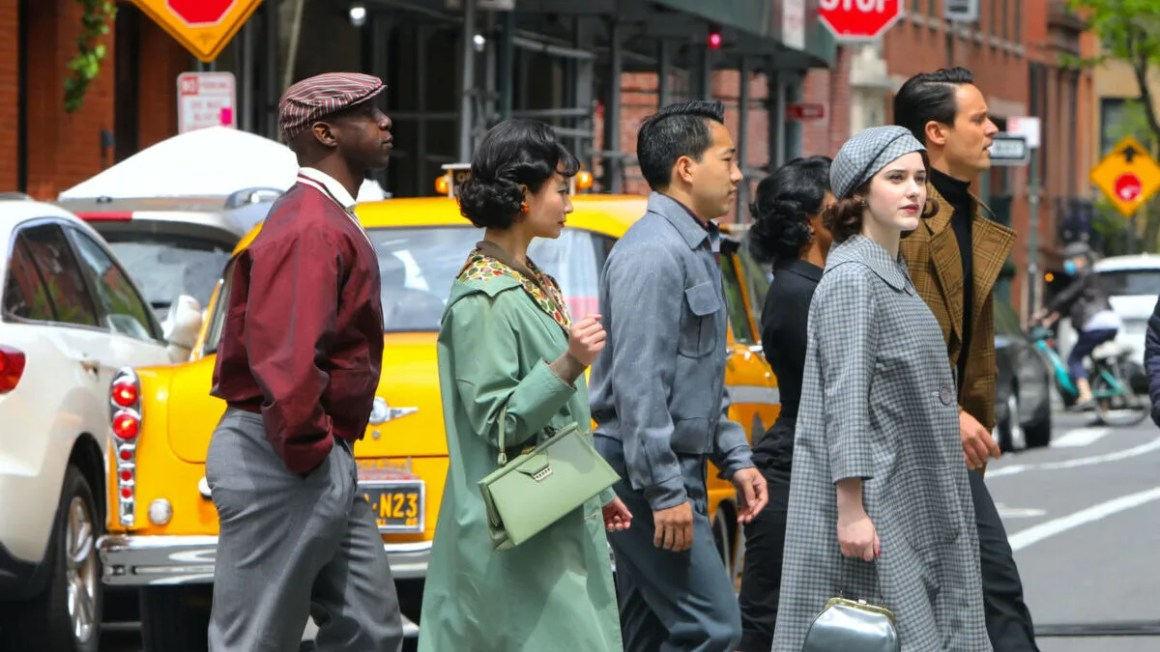 TikTok Videos Show 'Marvelous Mrs. Maisel' Season 4 Filming in NYC