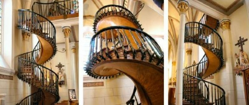 Mysterious Staircase At Loretto Chapel | The Staircase Of Loretto Chapel | Original | Light | Weird | Stairway | Magical