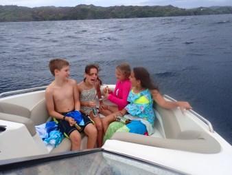 Kids laughing on Zoe Tobago