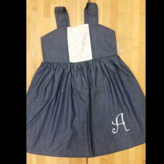 Denim Sundress with a Touch of Lace
