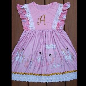 Pink & Gold Parade - Bunnies & Unicorns Dress
